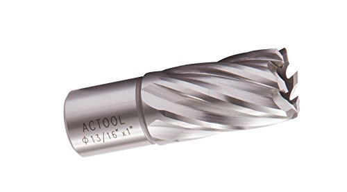 """ACTOOL 13/16"""" Diameter × 1"""" Depth of Cut HSS ANNULAR CUTTER"""