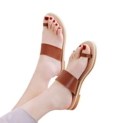 (Retro Flat Sandals - vermers Summer Slippers Flip Flops for Women Beach Shoes Flats Casual Roman Shoes)