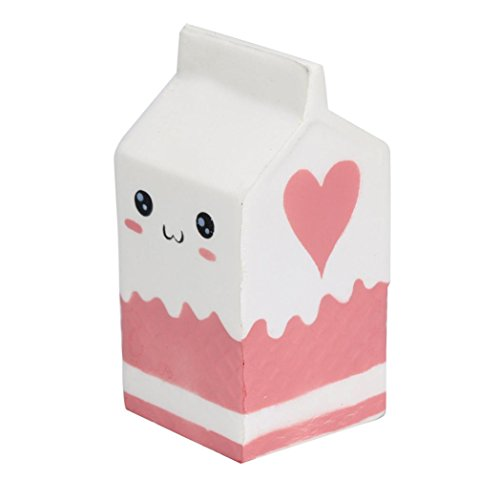 Price comparison product image WILLTOO Cute Soft Pink Yogurt Bottle Slow Rising Toy For Kids, CLEARANCE!!