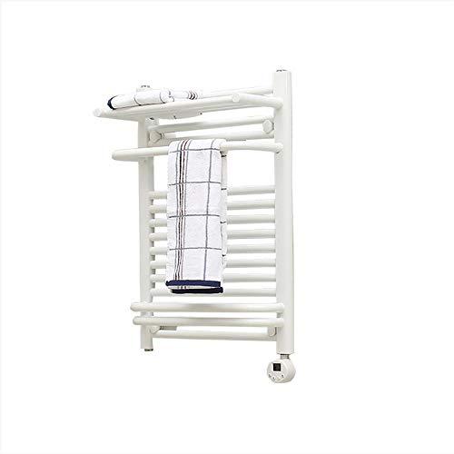 - RYZRYZ Heated Towel Rack, Bathroom Straight Low Carbon Steel Radiator, Safe Waterproof and Leakproof, LCD Screen Temperature Control, Wall Mount