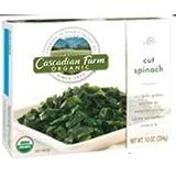 Cascadian Farm Organic Cut Spinach, 10 Ounce -- 12 per case.