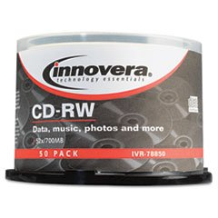 (3 Pack Value Bundle) IVR78850 CD-RW Discs, Rewritable, 700MB/80min, 12x, Spindle, Silver, 50/Pack by IVR78850