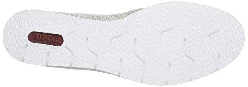 Mesdames Rieker M1350 Pantoufle Blanc (glace / 81)