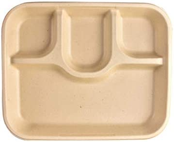 Paquete de 25 bandejas biodegradables compostables de 4 ...