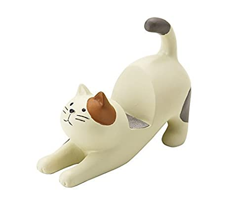 Cream Cat with Brown Ear Patch Smartphone Stand - Brown Phone