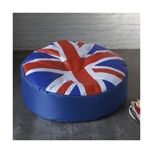 Canap londres avec le drapeau anglais deco londres for Pouf avec drapeau anglais