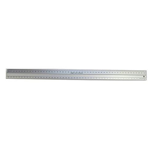 Linex Hobby Schneidelineal rutschfest leichtes Aluminium 1 abgeschrägte Seite 1 gerade Seite 50 cm