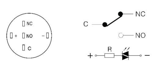 DiMeBa, Klingeltaster oder Taster (bis 230V /5A) aus Edelstahl mit ...