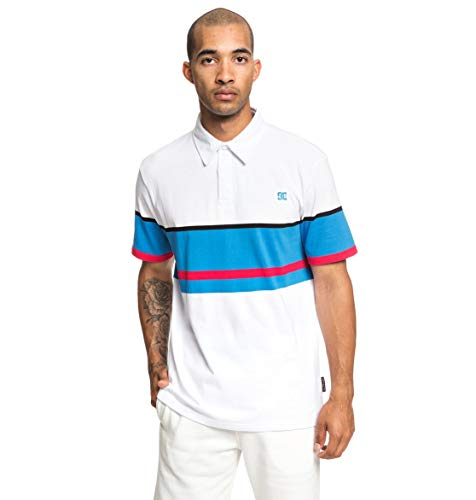 DC Shoes Mens Shoes Granline - Short Sleeve Polo Shirt - Men - L - White Snow White L ()