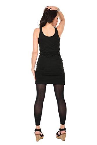Réservoir Robe T-shirt Femme Noire Avec Pixie Papillon D'impression Par 3 Elfen, Robes Courtes D'été Violette