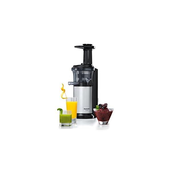 Panasonic MJ-L500 Slow Juicer Sistema di Estrazione, Senza Lame, Acciaio - 2020 -