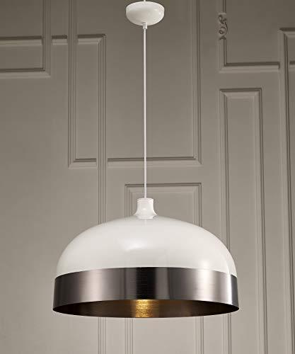 Whiteline Modern Living PL1484-SLV-WHT Adriana Ceiling Lighting, ()