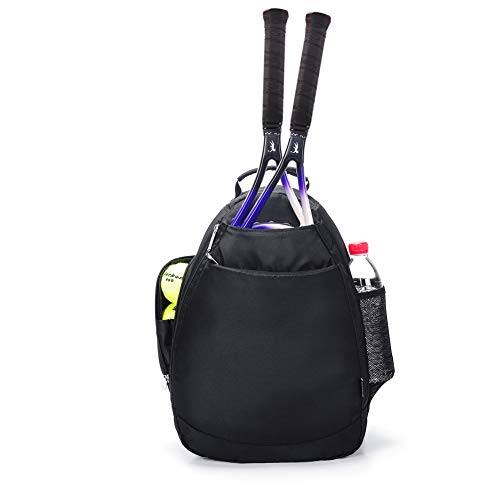 Women's Small Tennis Racket Backpack Sport Bag for Girls (Black New) - New Black Backpack
