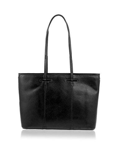 Lamarthe Fontana Shopping Safian Calfskin Noir Sac fzUq6nf