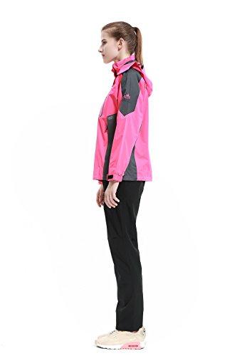 Diamond Candy - Chaqueta con capucha de tejido softshell, impermeable para mujer hot pink