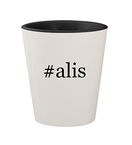 #alis - Ceramic Hashtag White Outer & Black Inner 1.5oz Shot Glass