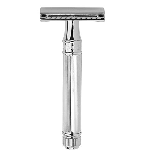 Edwin Jagger DE89Lbl Lined Detail Chrome Plated Double Edge Safety Razor by Edwin Jagger