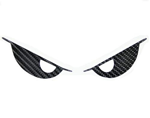 - Kevlar Evil Eyes No Fear Decal Carbon Fiber Devil Demon Sticker 6