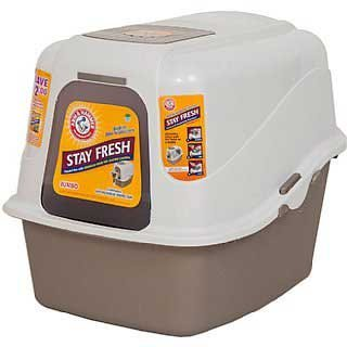Doskocil Arm & Hammer Hooded Pan System, Jumbo dimensions 21.8 x 18 x 18.8 inches