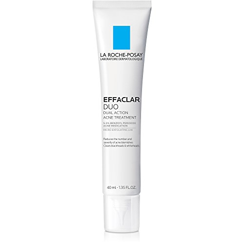La Roche-Posay Effaclar Duo Dual Action Acne Treatment Cream with Benzoyl Peroxide, 1.35 Fl. Oz.