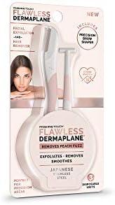 Finishing Touch Pacote de viagem DermaPlane com esfoliante facial e removedor de pelo, 3 unidades