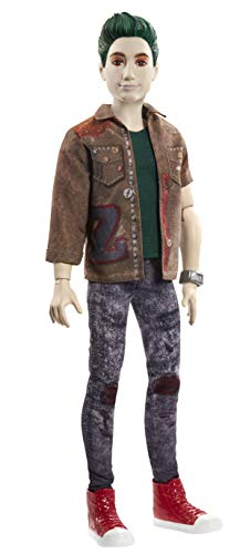 """Disney Zombies 2, Zed Necrodopolis Zombie Doll (~12inch) Wearing Zombie Grunge Outfit and Accessories, 11 Bendable """"Joints,"""" Great Gift for Ages 5+"""