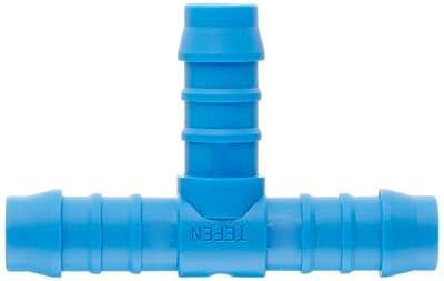 Tefen Nylon 66 Hose Fitting, Tee, Blue, Hose ID, Metric