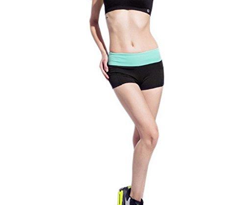Et Pour Femmes Shorts De Vert Confortable Sport Les Ajustée Musculation Yoga Acme Filles Noir Mini Coupe F6Hwqx1g