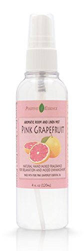 Pink Grapefruit Room and Linen Spray - Natural Aromatic Mist Made with PINK GRAPEFRUIT ESSENTIAL OIL - Relax Your Body & Mind – Perfect as a Bathroom Air Freshener Odor (Pink Citrus Perfume)