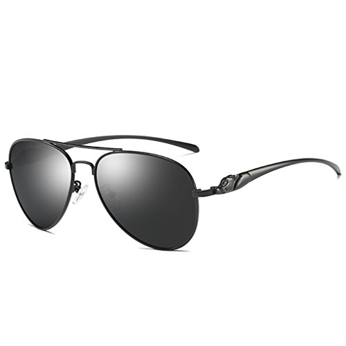 41b5dce2339 LUOMON Aviator Sunglasses for Men with 57mm Lens Polarized Classic Glasses  LM912