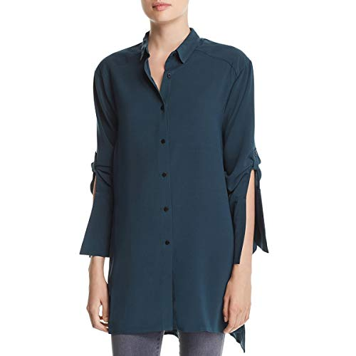 KENNETH COLE Women's Tunic Shirt, Petrol, XS