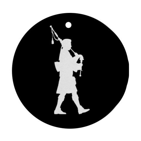 MYDply Bagpipes Bagpiper Player Ornament Round Porcelain Christmas Great Gift Idea