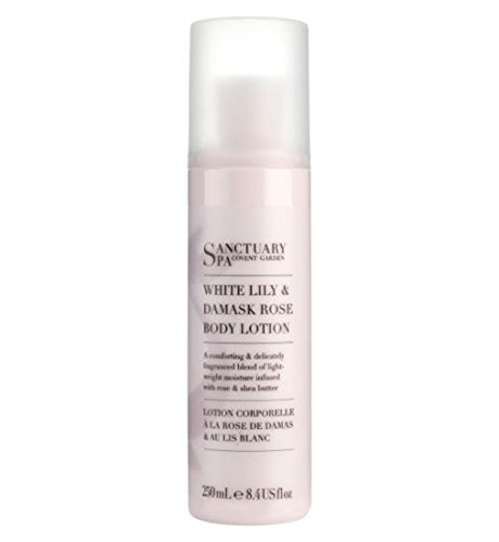 Sanctuary Spa Body Lotion White Lily And Damask Rose 250Ml (Spa Lip Care White)