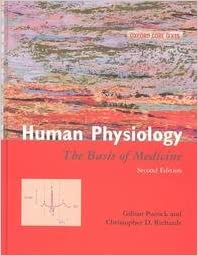 human physiology the basis of medicine oxford core texts