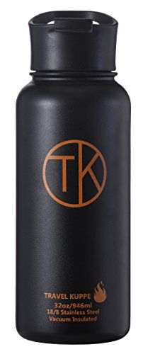 TK Fire (32 oz) Stainless Steel Bottle Vacuum Insulated Travel Mug with Sip Lid - Keeps Hot & Cold Beverages Up To 48 Hours - Double Walled Thermos Water Bottle - Insulated Coffee Mug (Tk Fire)