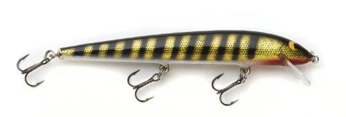 Lure Foil - Bagley Bang O Lure Genuine Balsa Wood Classic Stick/Jerk Bait, Black Stripes on Gold Foil, 5 1/4-Inch