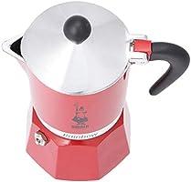Bialetti Rainbow Cafetera Italiana Espresso, 3 Tazas, Aluminio, Rojo