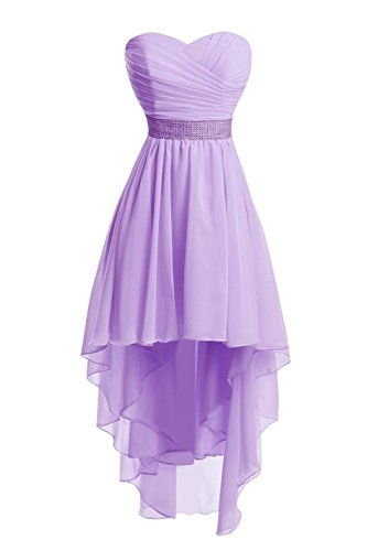 Lavender Anna's Party Short Dresses Women's Beaded Red Gowns Bridesmaid Waist Bridal Wedding 6TS6Pwq1