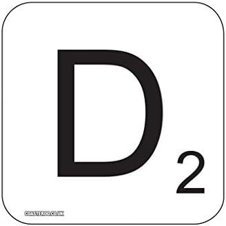 D Scrabble – Imán para Frigorífico – 9 cm x 9 cm x 9 cm madera – Acabado Brillante – Fun juegos de palabras diseño: Amazon.es: Hogar