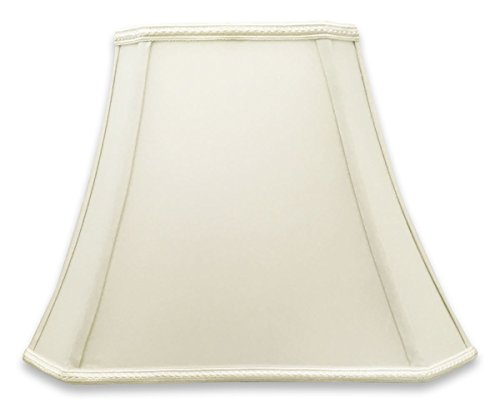 Royal Designs DSO-68-16WH Rectangle Bell Cut Corner Designer Lamp Shade-White-(6.25 x 8) x (11 x 16) x 12, 16