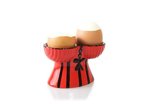 Corset Double Egg Cup Holder, Stocking Stuffer Gag Gifts for Men & Women for Christmas Dirty Santa Presents, Funny Lesbian Gift, Holds 2 Large Hard or Soft Boiled Eggs | or Beauty Blender Holder