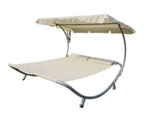 outsunny-double-wide-patio-pool-hammock-bed-lounger-with-sun-shade-off-white