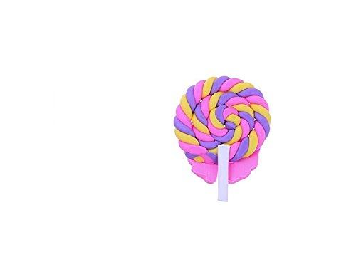 FenBuGu-JP ミニチュア樹脂ロリポップ置物置物ドールハウス工芸品フェアリーガーデン装飾ミニ植物ポットマイクロ風景盆栽装飾品DIYキッズおもちゃギフト(ピンク)
