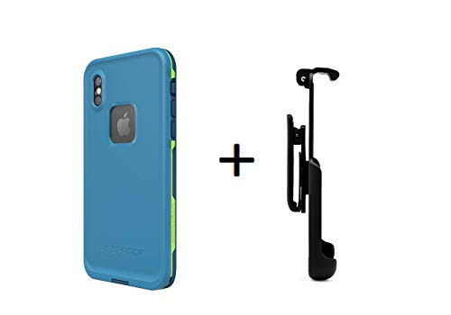 Lifeproof FRĒ Series Waterproof Case for iPhone X and Xs - Retail Packaging + Belt Clip Holster