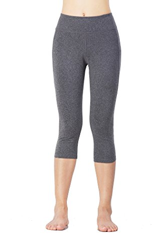 Women Quick Dry Compression Capris Pants For Tights Running Yoga Gym,Gray