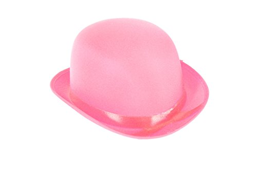 [Dress Up Party Costume BOWLER Hat (Pink)] (Snowman Costume Hat)