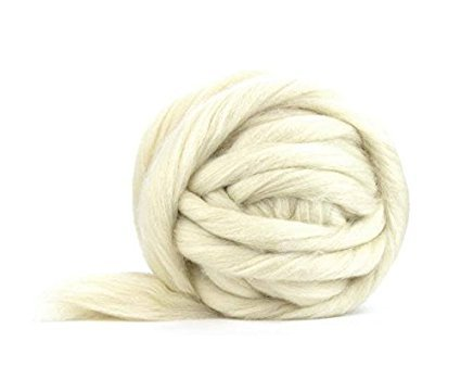 1 Lb. Ashland Bay Corriedale Cross Wool Roving - SPINNING FIBER Super soft Wool Top Roving perfect for felting, blending, hand spinning with drop spindle or wheel and weaving by Ashland Bay