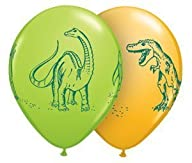 Qualatex 11″ Dinosaurs In Action Assortment Latex Balloons Bag of 10