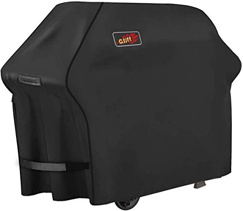 Homitt Gas Grill Cover, 58-inch 3-4 Burner 600D Heavy Duty Waterproof BBQ Cover with Handles and Straps for Most Brands of Grill -Black
