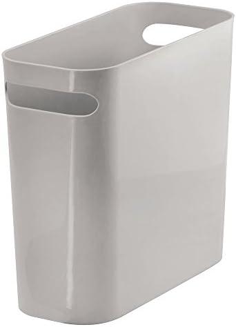 Ideale come contenitore per rifiuti o anche come cestino gettacarte mDesign Bidone spazzatura con maniglie Per cucina In robusta plastica Design moderno bagno e ufficio